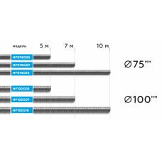 NORDBERG ШЛАНГ HF076G07 газоотводный ?75мм, длина 7м, до +250°С (серый)