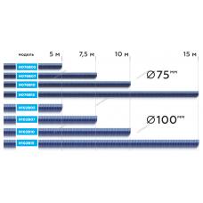 Шланг газоотводный H076B10 d=75мм, длина 10м (синий) NORDBERG