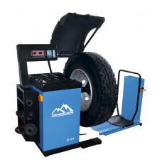 Балансировочный станок с пневматическим подъемным устройством для колес до 130 кг