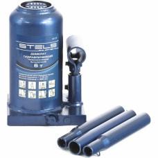 Домкрат гидравлический бутылочный телескопический, 6 т, h подъема 170–420 мм STELS