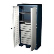 Шкаф для оснастки и инструмента 1950 мм с 4 полками и 20 ящиками Ferrum 08.3204