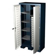 Шкаф для оснастки и инструмента 1950 мм с 5 полками и 15 ящиками Ferrum 08.3155