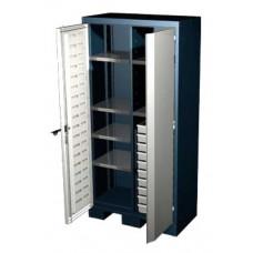 Шкаф для оснастки и инструмента 1950 мм с 6 полками и 10 ящиками Ferrum 08.3106