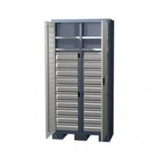 Шкаф для оснастки и инструмента 1950 мм с 2 полками и 30 ящиками Ferrum 08.3302
