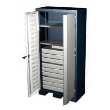 Шкаф для оснастки и инструмента 1950 мм с 2 полками и 9 ящиками Ferrum 08.3092